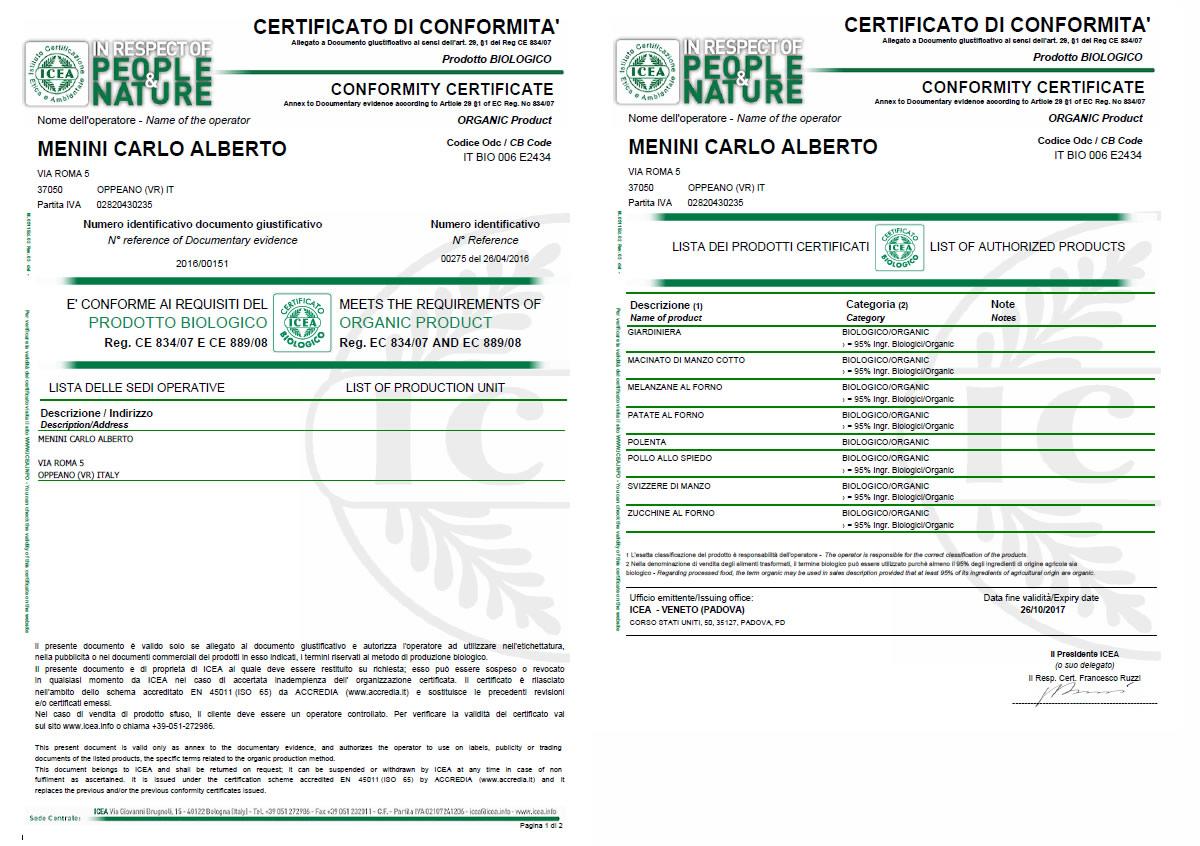 certificazioni delle Macellerie Carlo Alberto